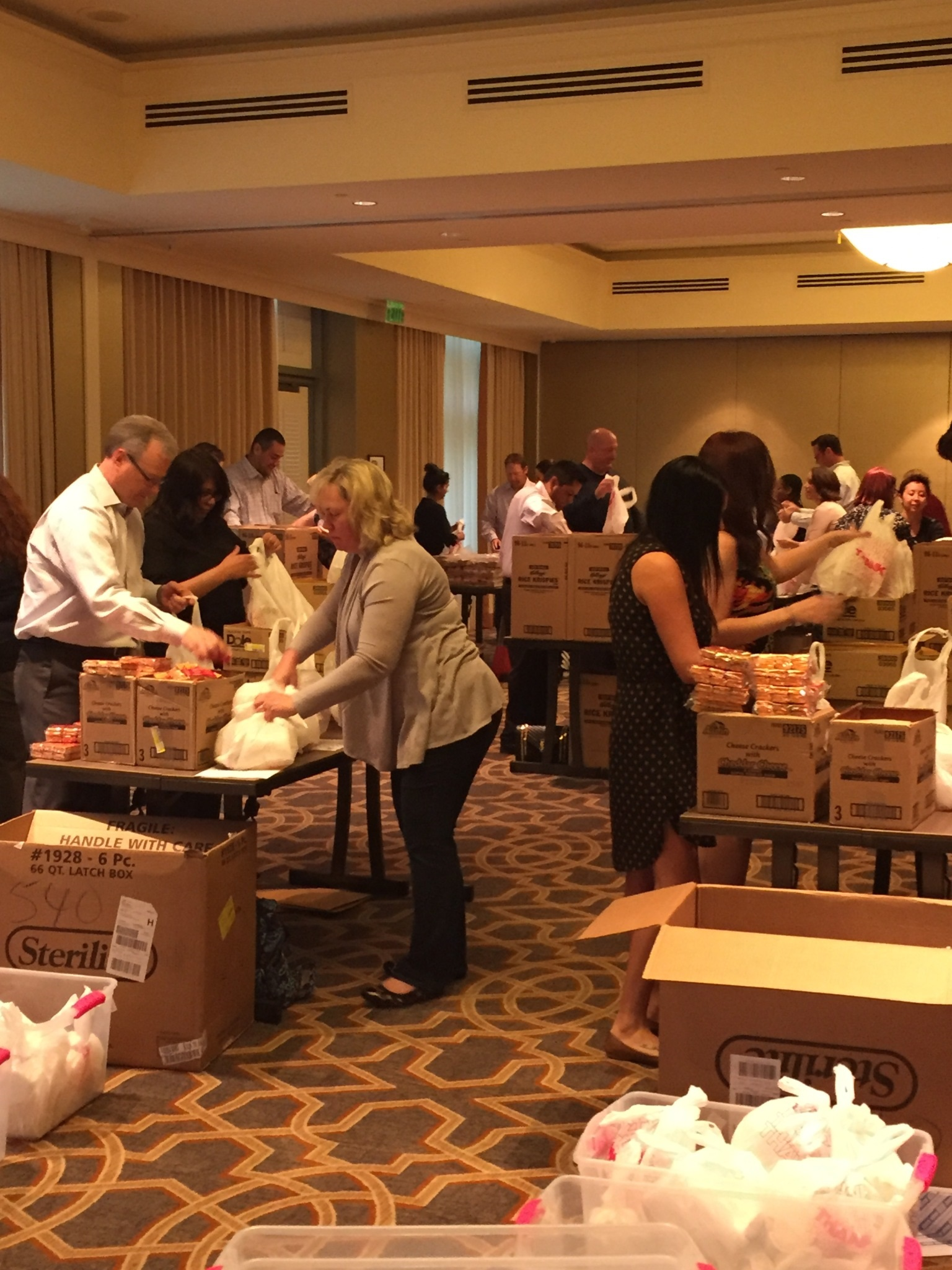 50 Anthem volunteers packaged 3,000 pounds of food which will be provided to 150 children at the Fuqua Boys & Girls Club.